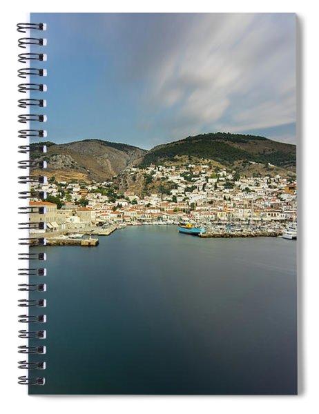 Port At Hydra Island Spiral Notebook