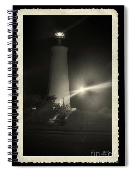 Port Isabel Lighthouse In Sepia    Spiral Notebook