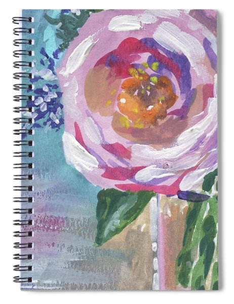 Portal To The Beauty Floral Impressionism  Spiral Notebook