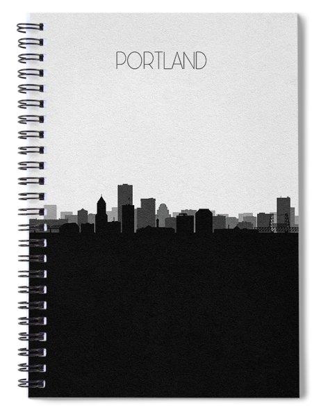 Portland Cityscape Art V2 Spiral Notebook