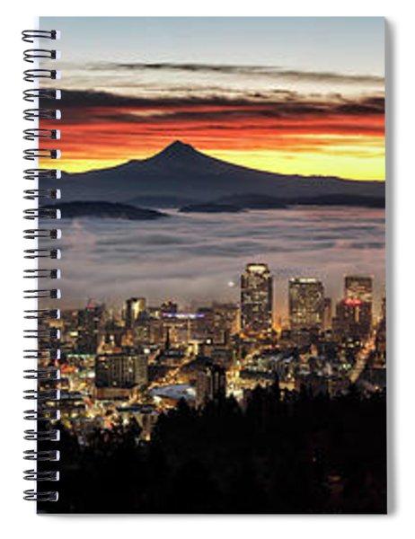 Portland Foggy Sunrise Spiral Notebook