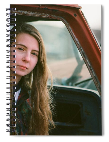 Portrait In A Truck Spiral Notebook