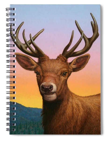 Portrait Of A Red Deer Spiral Notebook