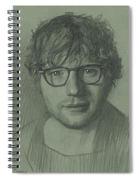 Portrait Of Ed Sheeran Spiral Notebook