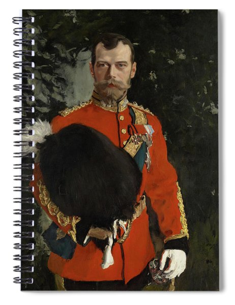 Portrait Of His Imperial Majesty Nicolai II Alexandrvitch, Tsar Of All The Russias Spiral Notebook