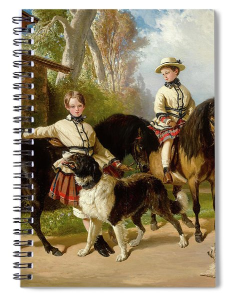 Portrait Of The Duke Of Chartres And The Count Of Paris In Scots, 1850 Spiral Notebook