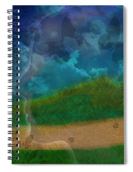 Portrait Of Time Spiral Notebook