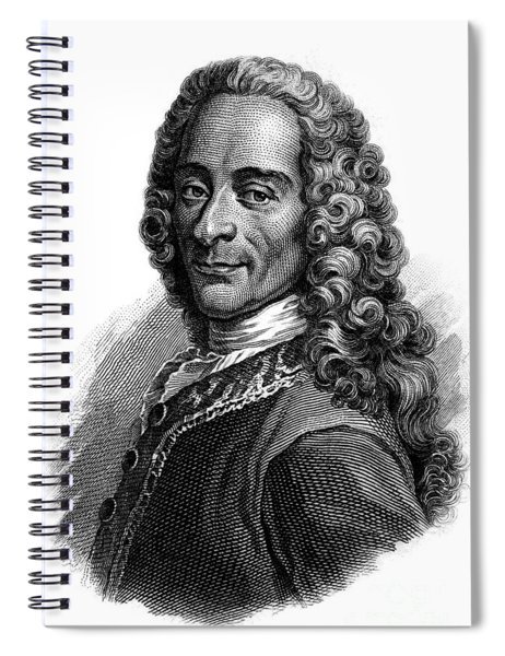 Portrait Of Voltaire, Engraving  Spiral Notebook
