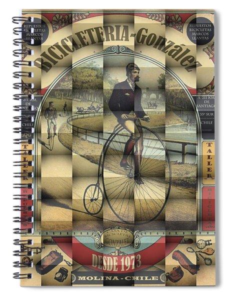 Poster Bike 3d Spiral Notebook