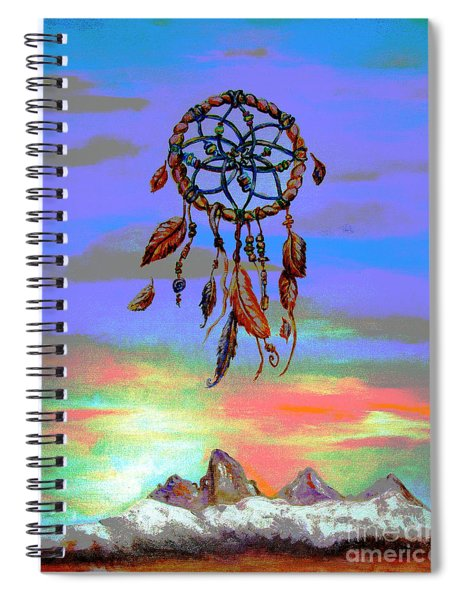 posterized Sweet Dreams Tetons Spiral Notebook
