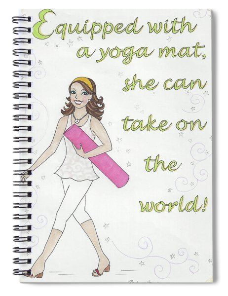 Power Of Yoga Mat Spiral Notebook
