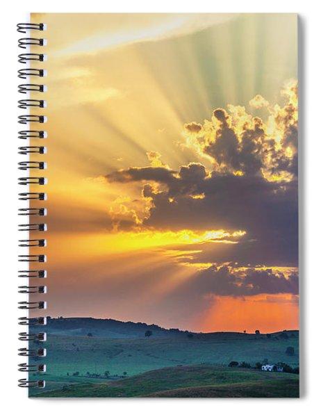 Powerful Sunbeams Spiral Notebook