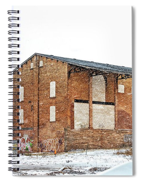 Powerless Station In A Blizzard Spiral Notebook