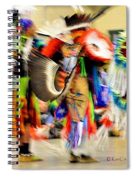 Powwow Abstraction #4 Spiral Notebook