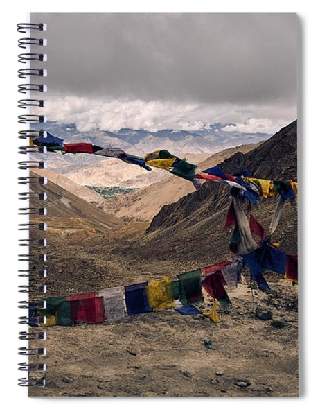 Prayer Flags In The Himalayas Spiral Notebook
