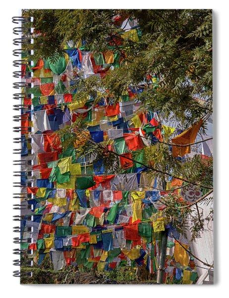 Prayer Flays Along The Kora In Mcleod Ganj Spiral Notebook