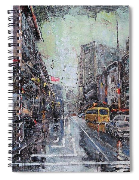 Pre-christmas Snow Spiral Notebook