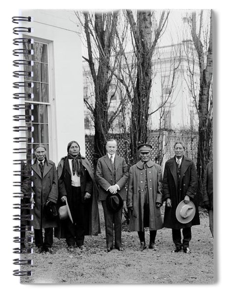 President Coolidge With Delegation Spiral Notebook