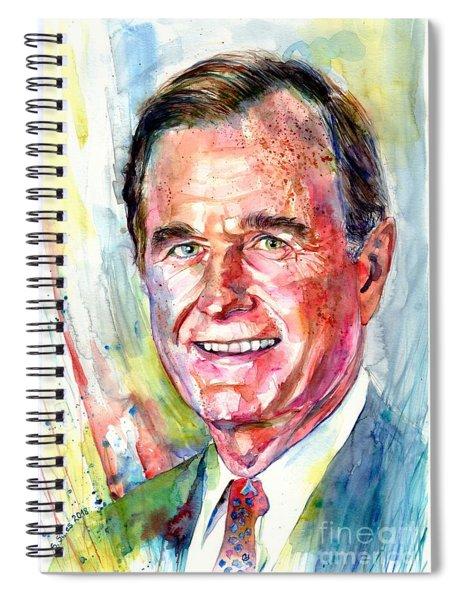 President George H. W. Bush Portrait Spiral Notebook