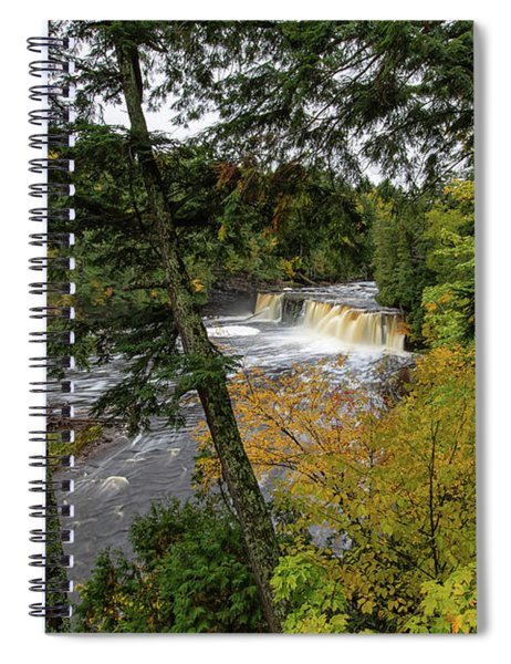 Spiral Notebook featuring the photograph Presque Isle River 3 by Heather Kenward
