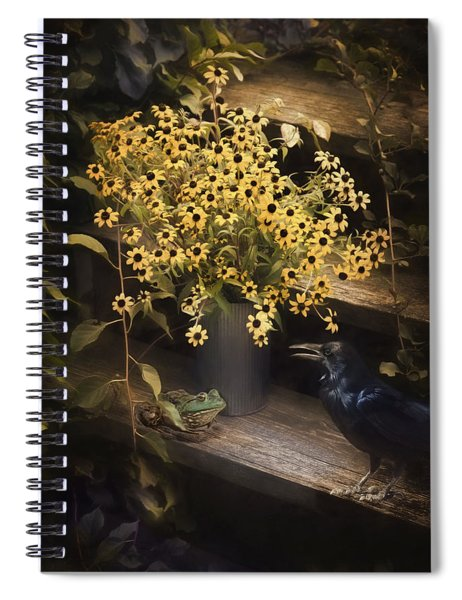Prince And A Crow Spiral Notebook