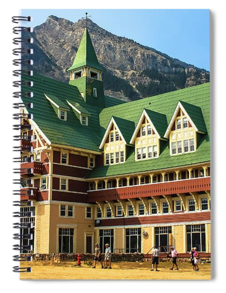 Prince Of Wales Hotel In Alberta Canada Spiral Notebook