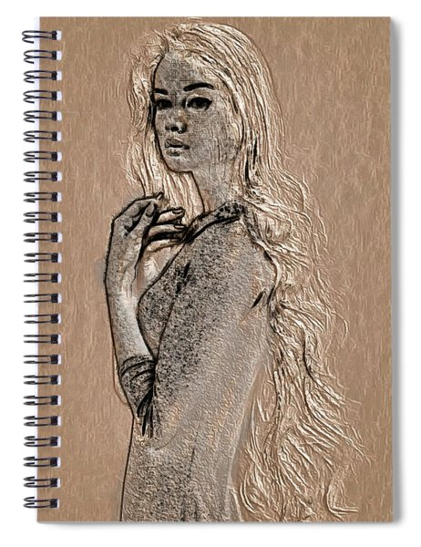 profile in Wood Spiral Notebook by Mario Carini