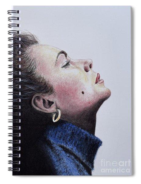Profile Portrait Of Liz Taylor Spiral Notebook