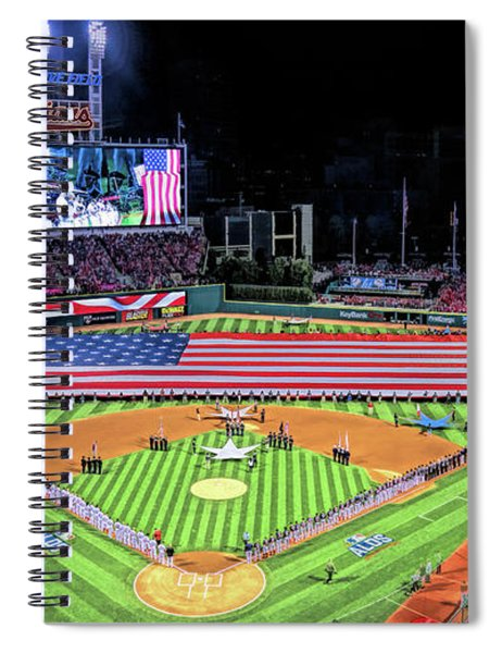 Progressive Field Cleveland Indians Baseball Ballpark Stadium Spiral Notebook