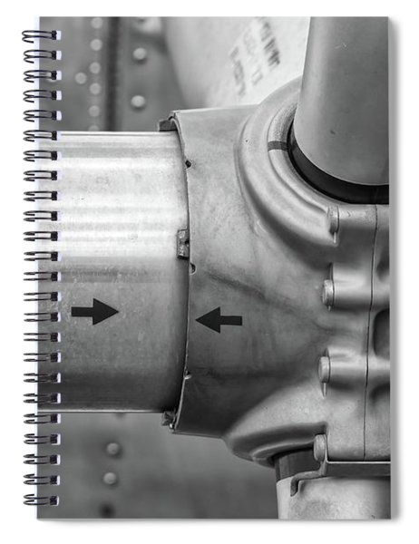 Propeller Hub Spiral Notebook