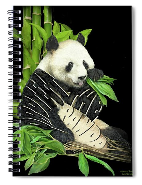 Protect The Panda Spiral Notebook