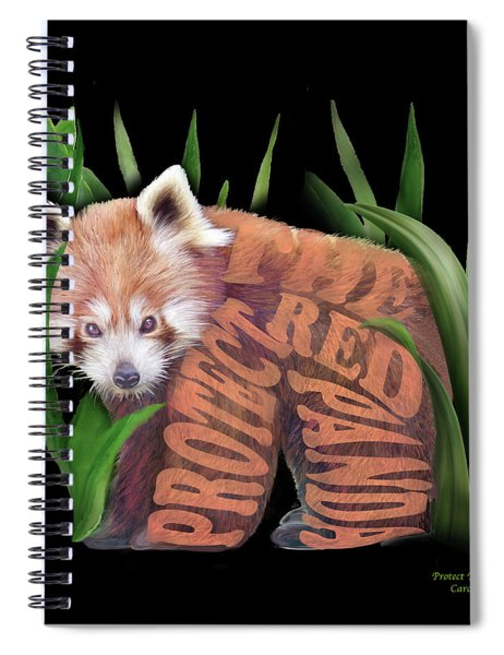 Protect The Red Panda Spiral Notebook