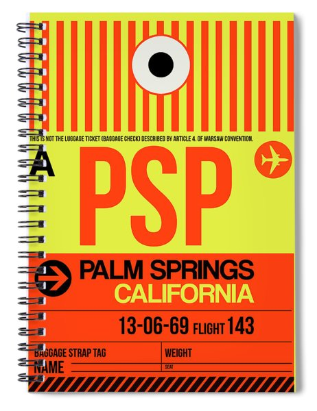 Psp Palm Springs Luggage Tag I Spiral Notebook