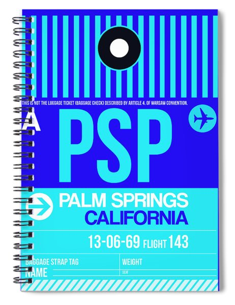 Psp Palm Springs Luggage Tag II Spiral Notebook