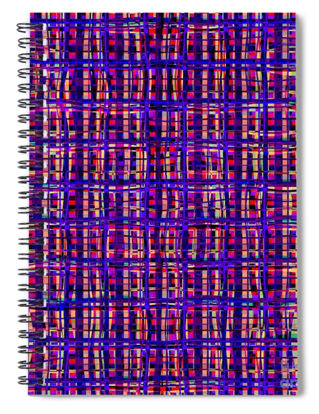 Psychedelic Art In Chaotic Visual Colors And Shapes - Ddf620 Spiral Notebook