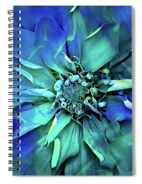 Psychedelic Blues Spiral Notebook
