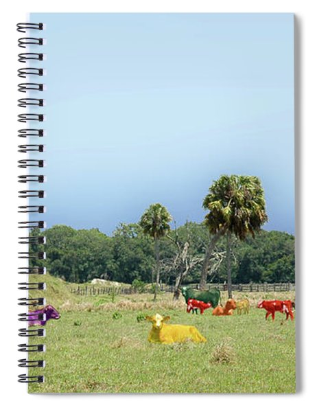 Psychedelic Cows Spiral Notebook