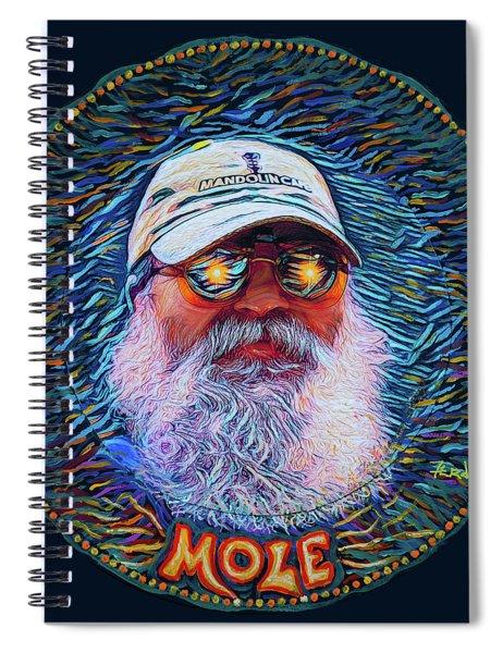 Psycodelic Mandolinist Spiral Notebook