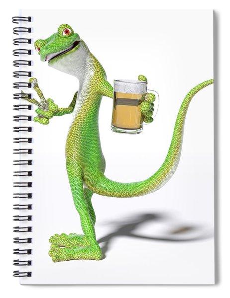 Pub Gecko Spiral Notebook