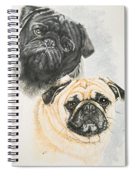 Pug Brothers Spiral Notebook