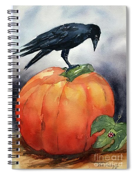 Pumpkin And Crow Spiral Notebook