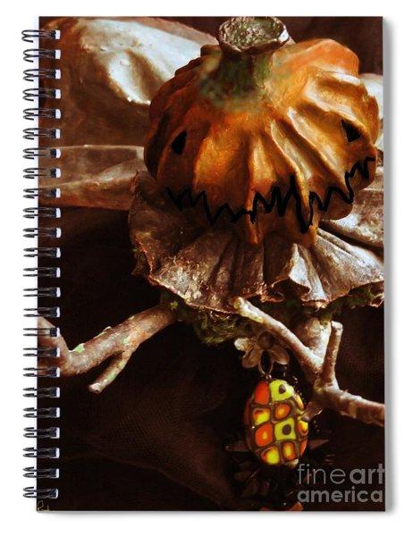 Pumpking Art Doll  Spiral Notebook
