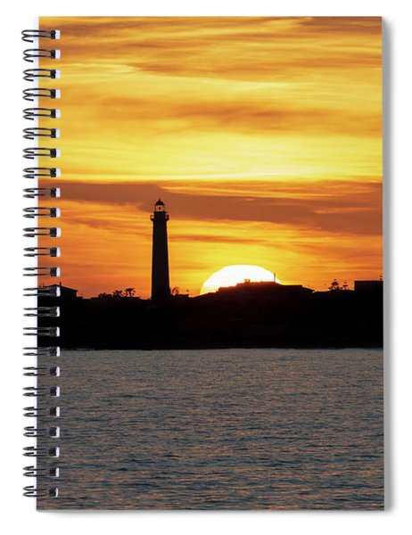 Spiral Notebook featuring the photograph Punta Secca by Mirko Chessari
