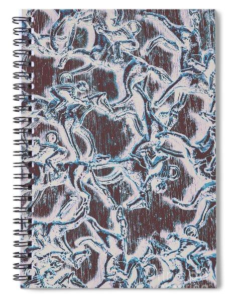 Punting Pattern Spiral Notebook