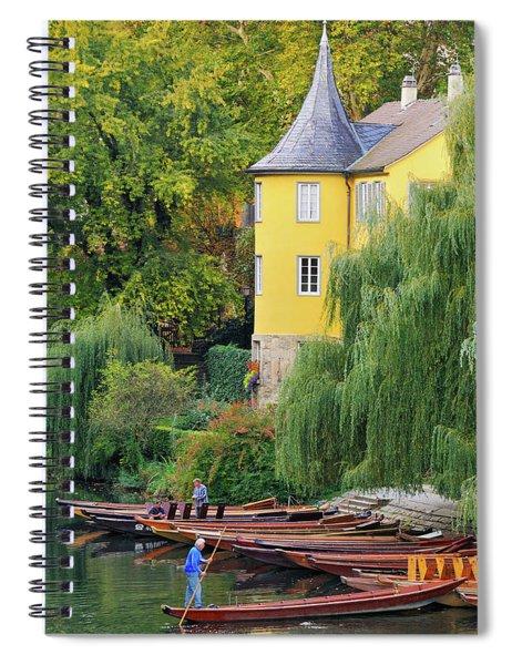 Punts In Lovely Tuebingen Germany Spiral Notebook