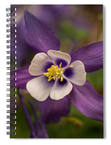 Purple Columbine Spiral Notebook