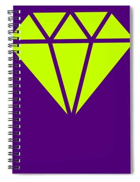 Purple Diamond Yellow Spiral Notebook