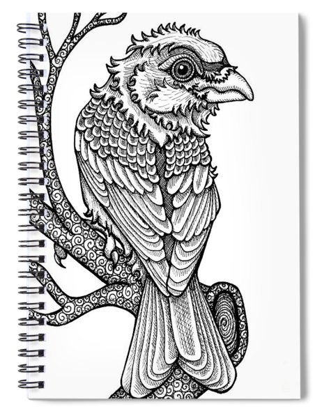 Purple Finch Spiral Notebook