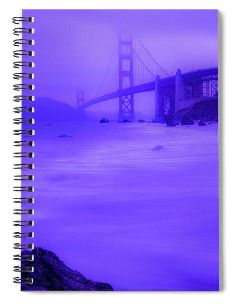 Purple Golden Gate Fog Spiral Notebook