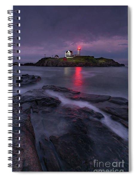 Purple Haze At Nubble Lighthouse Spiral Notebook